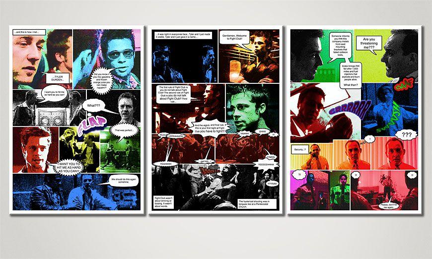 El cuadro para la sala Fight Club 150x70x2cm