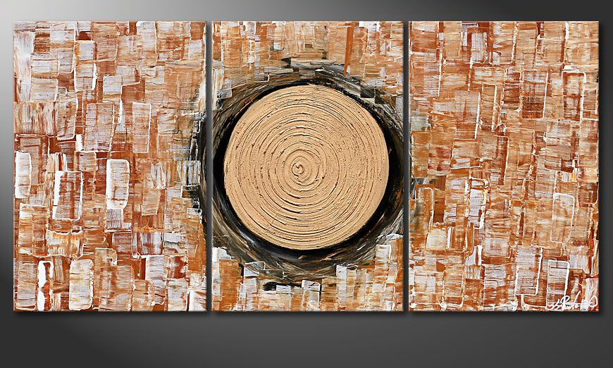 El cuadro para la sala Golden Sun II 120x60x2cm