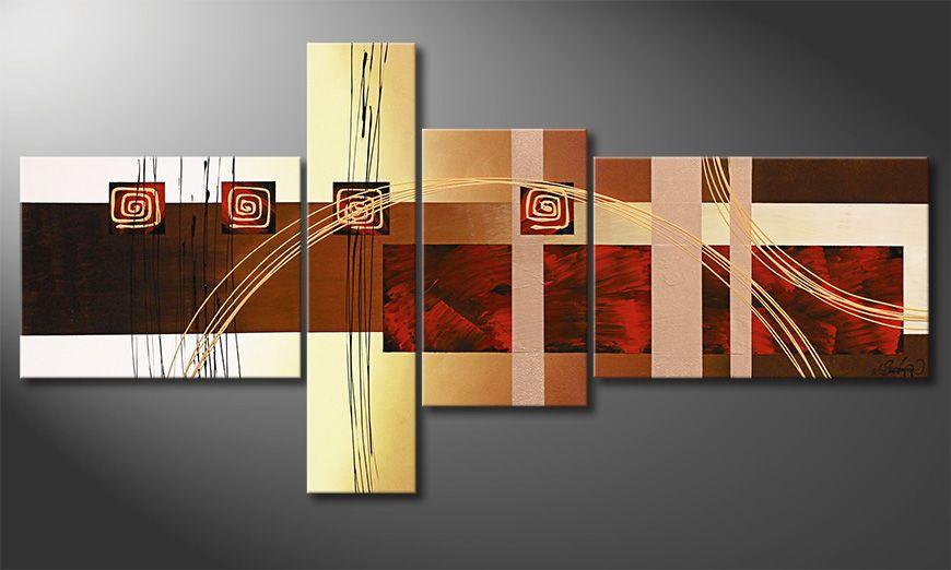 El cuadro para la sala Golden Ways 160x80x2cm