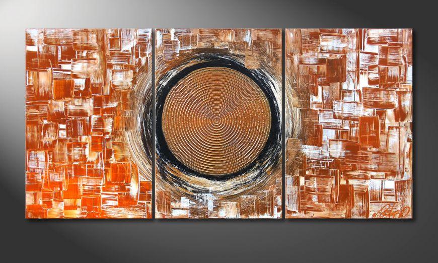 El cuadro para la sala Middle of Earth 120x60x2cm