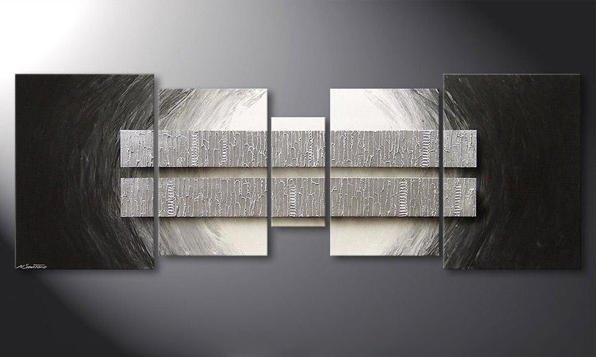 El cuadro para la sala Silver Blocs 200x70x2cm