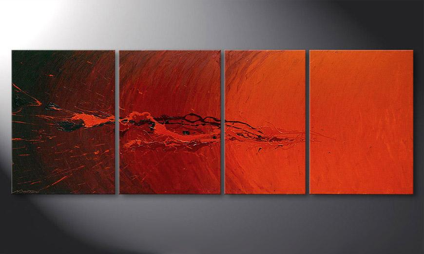 El cuadro para la sala Splash of Glow 190x70x2cm