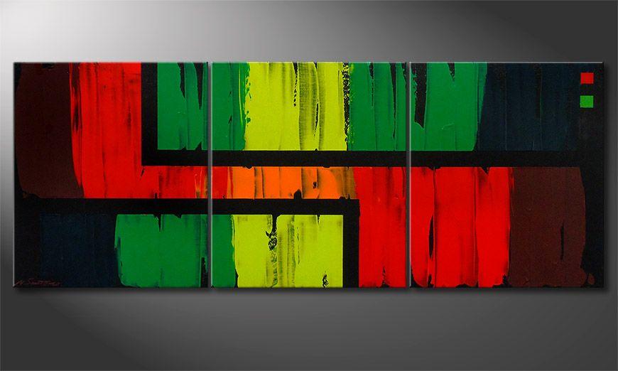El cuadro para la sala Urban Jungle 180x70x2cm