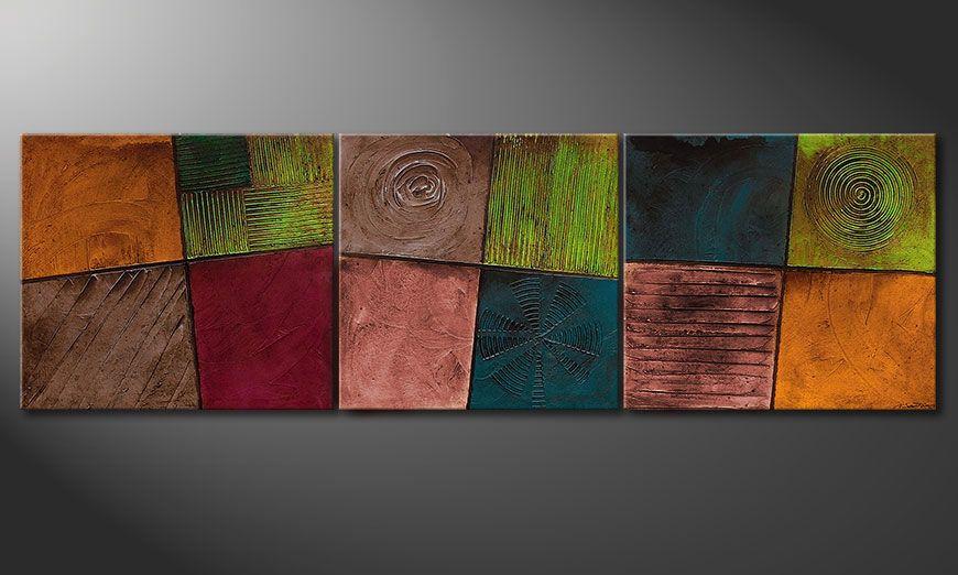 El cuadro para la sala de estar Facets of Life 260x80x2cm