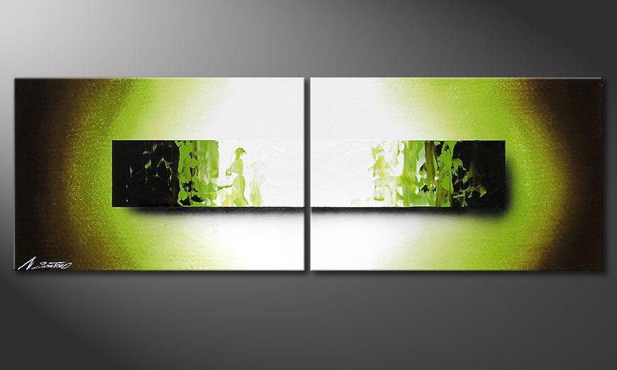 El cuadro pintado a mano Jungle Fever 120x40x2cm