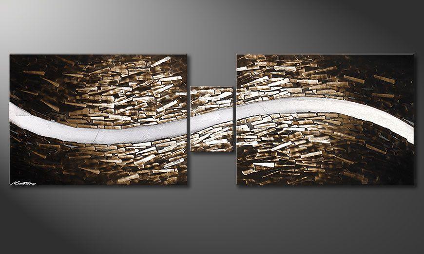 El cuadro sobre bastidor Clear River 180x60x2cm