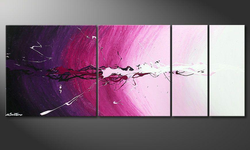 El cuadro sobre bastidor Cosmic Splash 130x50x2cm