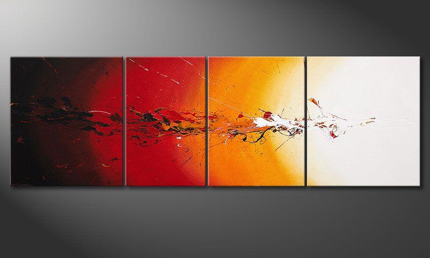 El cuadro sobre bastidor Fiery Splash 250x80x2cm
