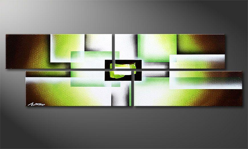 El cuadro sobre bastidor Green Spirit 130x40x2cm
