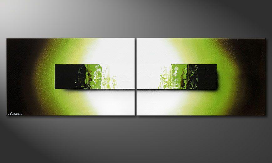 El cuadro sobre bastidor Jungle Fever 200x60x2cm