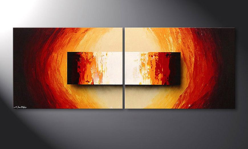 El cuadro sobre bastidor Liquid Fire 160x60x2cm