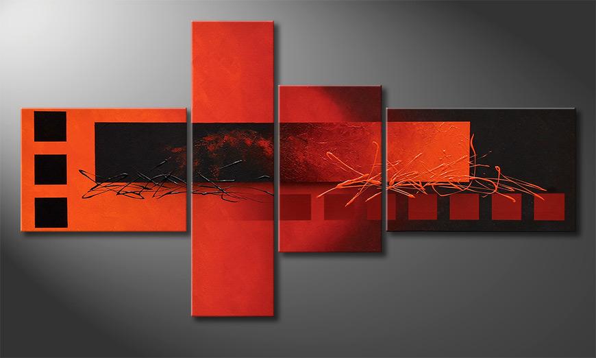 El exclusivo cuadro Fiery Emotions 130x70x2cm