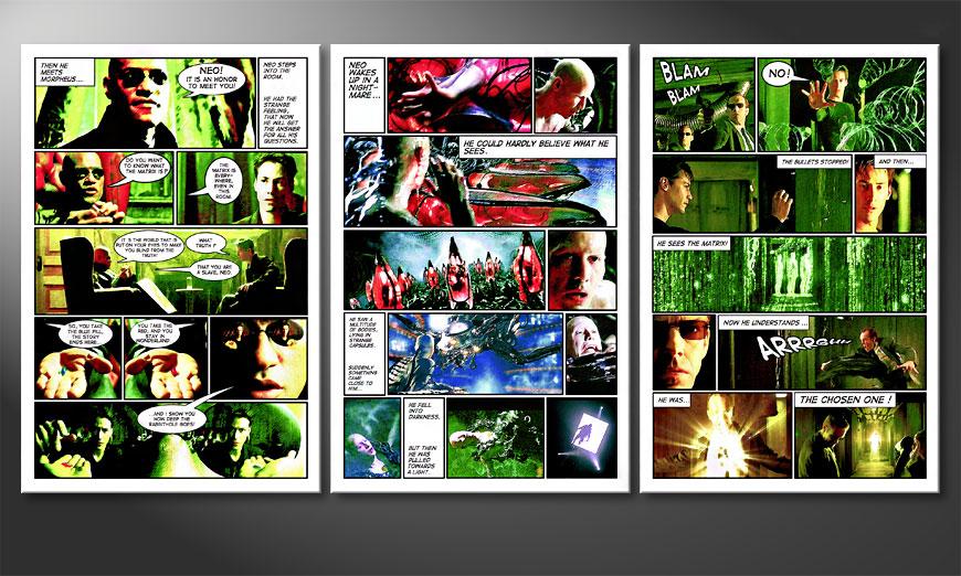 El gran cuadro Matrix de 180x90x2cm