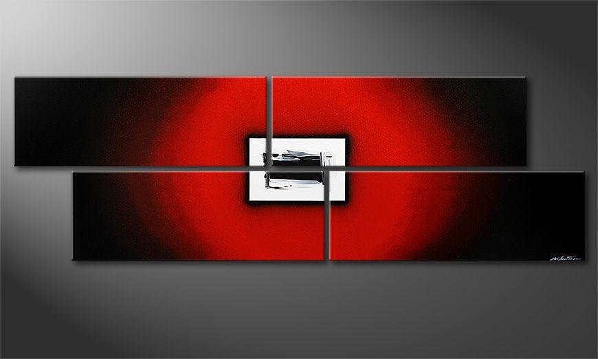 El gran cuadro moderno Lost Red de 245x80x2cm