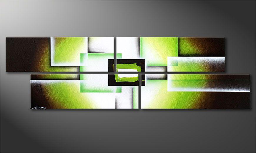 Green Spirit 200x60x2cm Cuadro