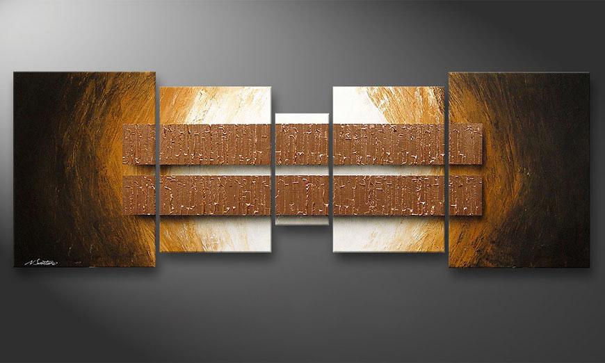 Nuestro cuadro Copper Blocs 200x70x2cm