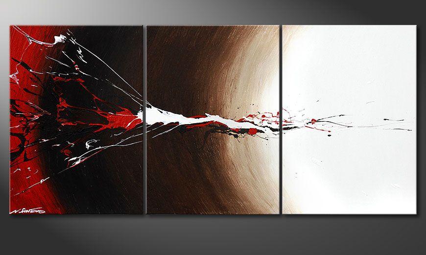 Nuestro cuadro Erupted Contrast 150x70x2cm
