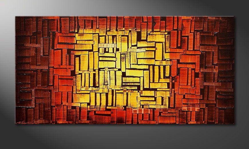 Nuestro cuadro Fire Cubes de 120x60x2cm