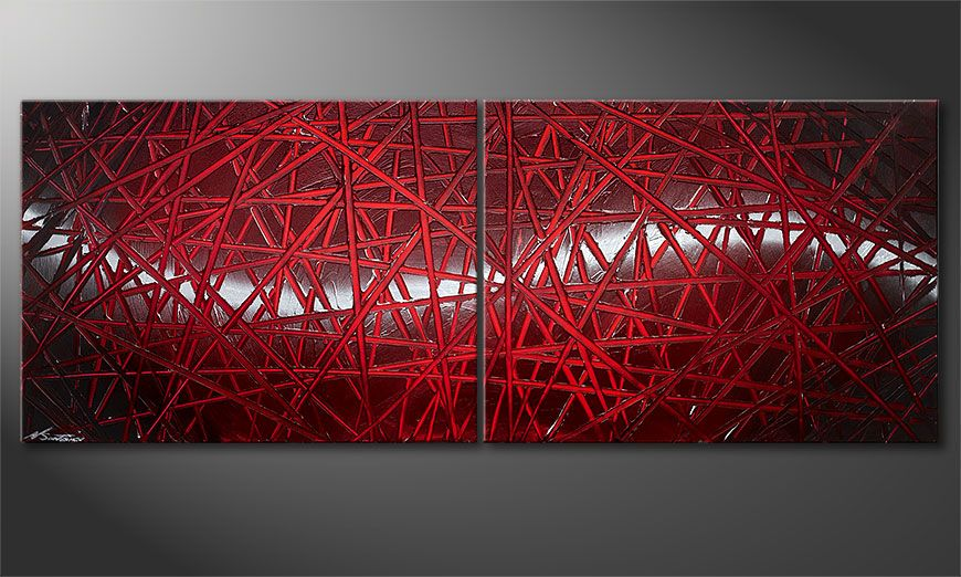 Nuestro cuadro Red Push 160x60x2cm