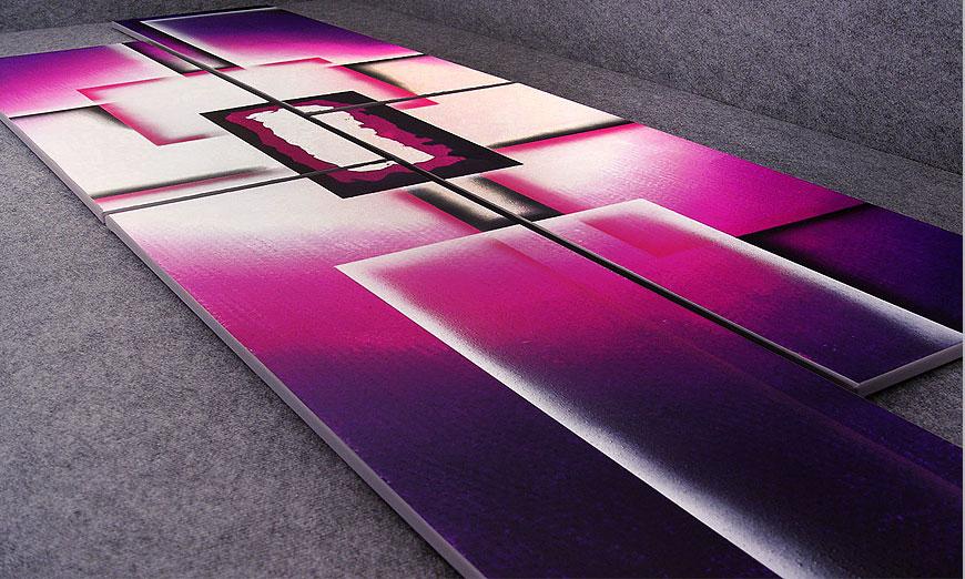 Nuestro cuadro XXL Purple Sun de 250x80x2cm