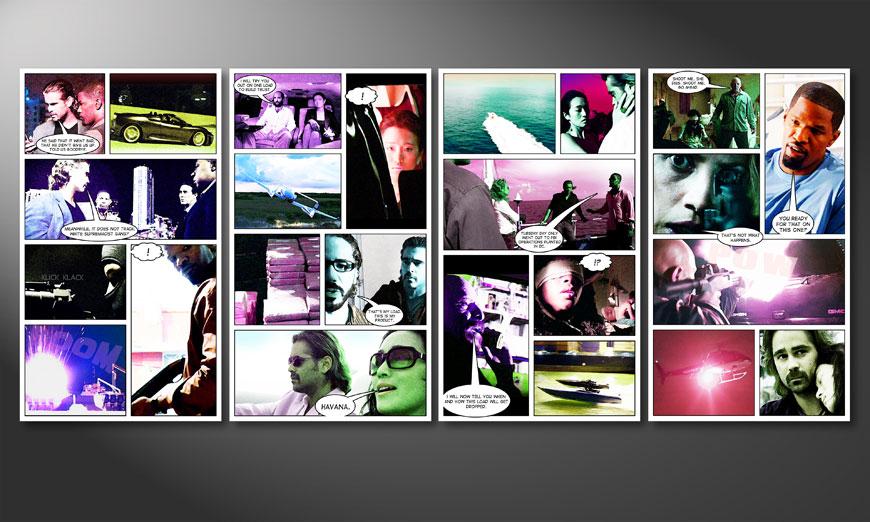 Nuestro cuadro moderno Miami Vice 160x70x2cm