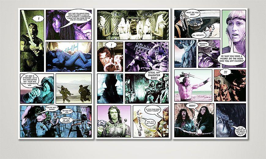Unser modernes Wandbild Conan de 120x70x2cm
