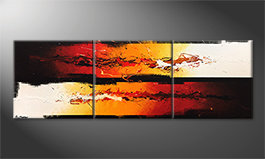 Arte moderno 'Battle Of Fire' 210x70cm