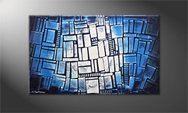 Arte moderno 'Blue Windows' 100x60cm