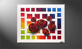 Arte moderno 'Colors Of Roses' 100x80cm