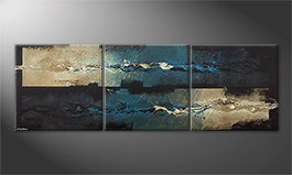 Arte moderno 'Frozen Splashes' 210x70cm