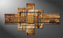 Arte moderno 'Golden Window' 130x75cm