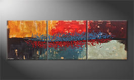 Arte moderno 'Hot And Cold' 210x70cm
