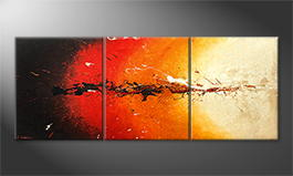 Arte moderno 'Inflammable' 180x70cm