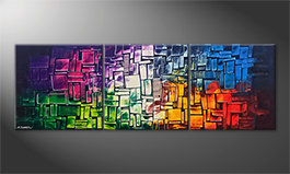 Arte moderno 'Invasion Of Colors' 210x70cm