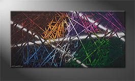 Arte moderno 'Light Reflection' 120x60cm