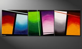 Cuadro de gran formato 'Wave of Colors' 240x80cm