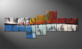 El cuadro 'Fire And Ice' 210x80cm