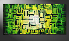 El cuadro 'Jungle Light' de 120x60cm