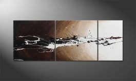 El cuadro 'Light Eruption' 130x50cm