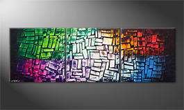 El cuadro 'Scattered Light' 210x70cm
