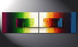 El cuadro moderno 'Battle of Colours' 200x60cm