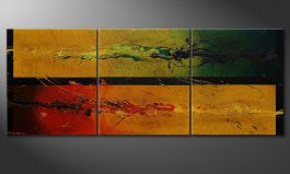 El cuadro moderno 'Blowing Elements' 180x70cm