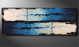 El cuadro para la sala 'Against The Drift' 270x100x4cm