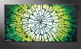 El cuadro sobre bastidor 'Center of Jungle' 120x60cm