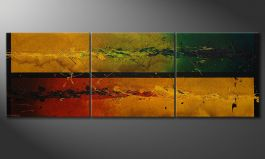 El gran cuadro 'Blowing Elements' 240x80cm