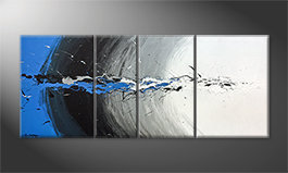 La bonita pintura 'Blue Light Splash' 170x70cm