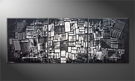 La bonita pintura 'Night Lights' 210x80cm