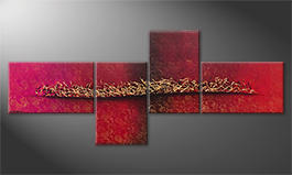 La pintura  exclusiva 'Golden Melody' 260x110cm