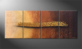 La pintura  exclusiva 'Golden Whisper' 200x80cm
