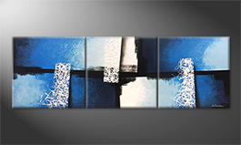 La pintura  exclusiva 'Light Fountains' 210x70cm